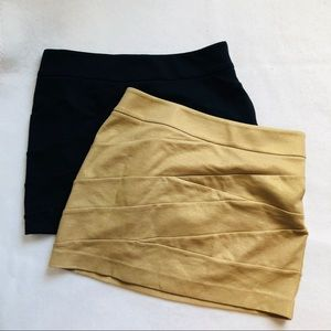 2 Express bodycon skirts
